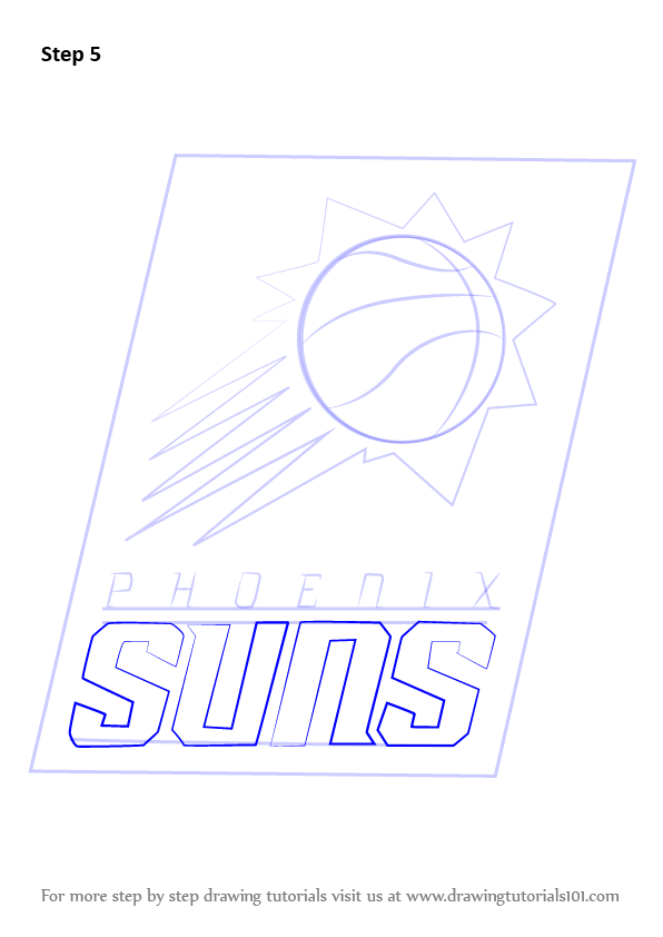 Learn How To Draw Phoenix Suns Logo Nba Step By Step