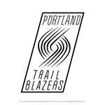 How to Draw Portland Trail Blazers Logo