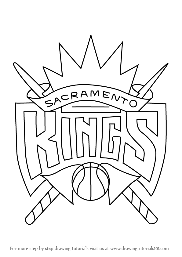 Learn How To Draw Sacramento Kings Logo NBA Step By Drawing