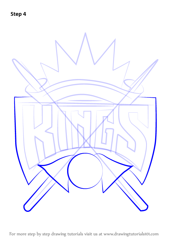 learn how to draw sacramento kings logo  nba  step by step Drawing NBA Lakers Draw the to How Lakersemble