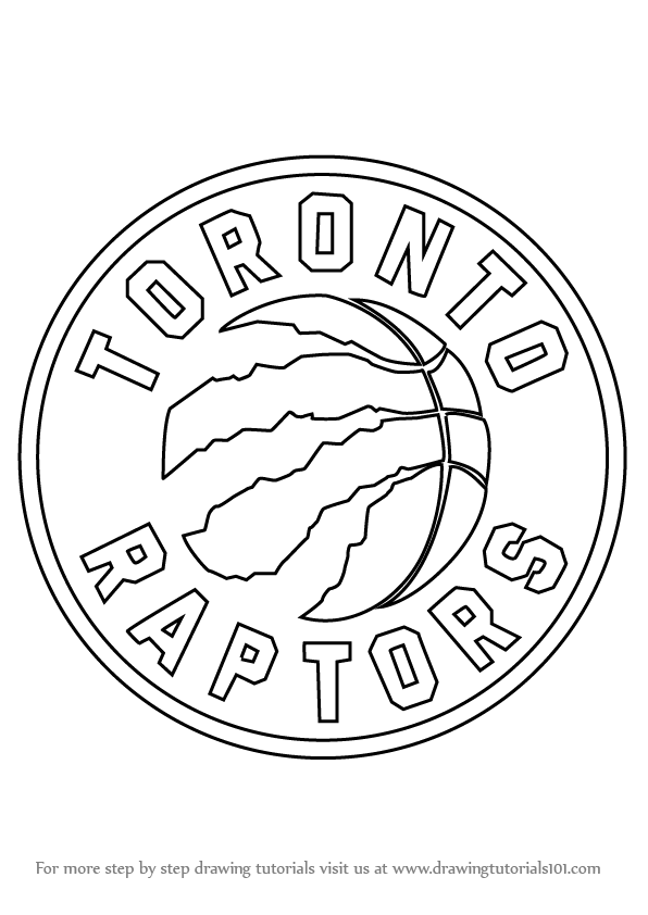 learn how to draw toronto raptors logo  nba  step by step Lakers Logo Drawing how to draw the lakers logo step by step