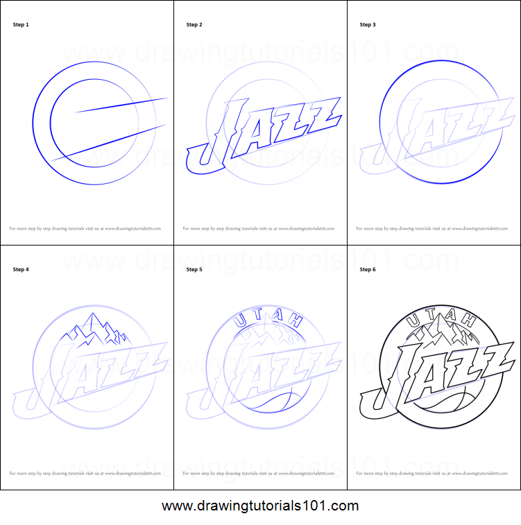 graphic about Utah Jazz Schedule Printable identify How toward Attract Utah Jazz Symbol printable phase via stage drawing