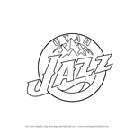 How to Draw Utah Jazz Logo