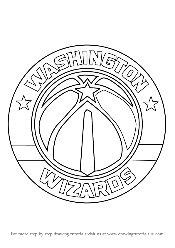 Learn How To Draw Washington Wizards Logo NBA Step By