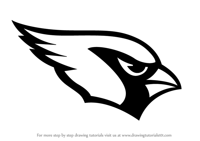 Learn How To Draw Arizona Cardinals Logo Nfl Step By