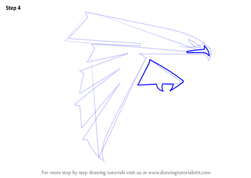 Learn How To Draw Atlanta Falcons Logo Nfl Step By Step Drawing