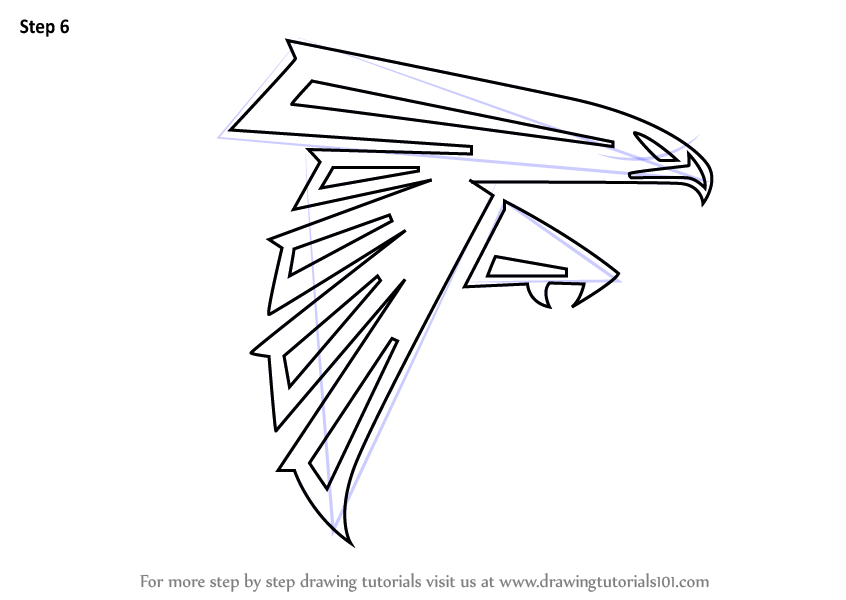Learn How to Draw Atlanta Falcons Logo NFL Step by Step