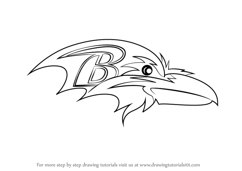 Baltimore Ravens Mascot Coloring