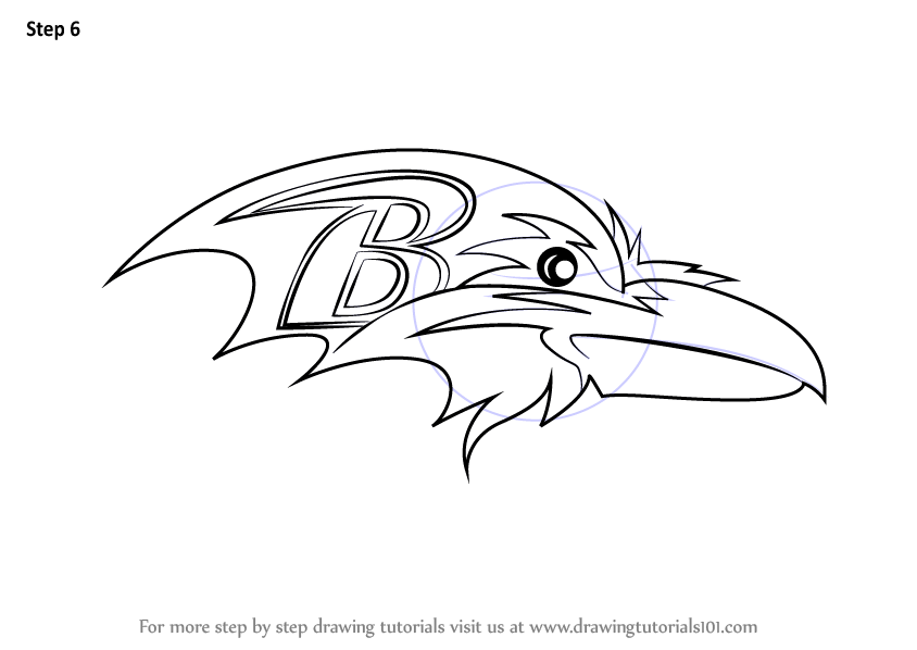 Learn How To Draw Baltimore Ravens Logo Nfl Step By Step