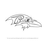 How to Draw Baltimore Ravens Logo