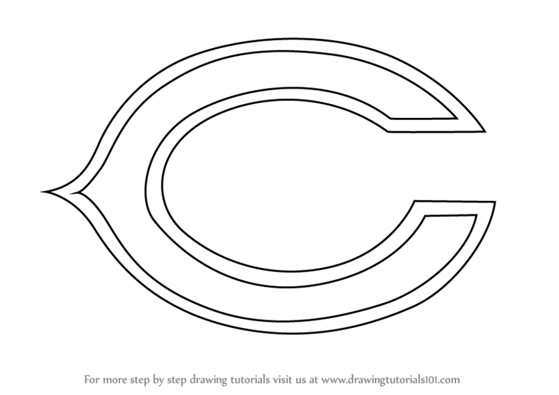 Learn How To Draw Chicago Bears Logo Nfl Step By Step Drawing
