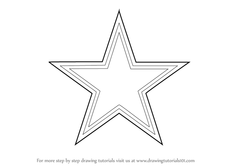 Learn How To Draw Dallas Cowboys Logo Nfl Step By Step Dallas Cowboys Logo Coloring Page Printable