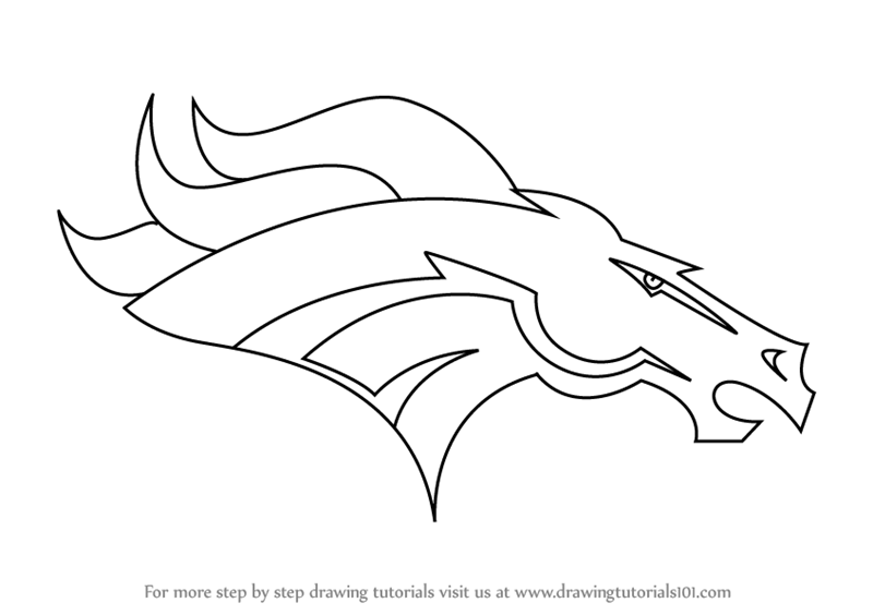 learn how to draw denver broncos logo nfl step by step