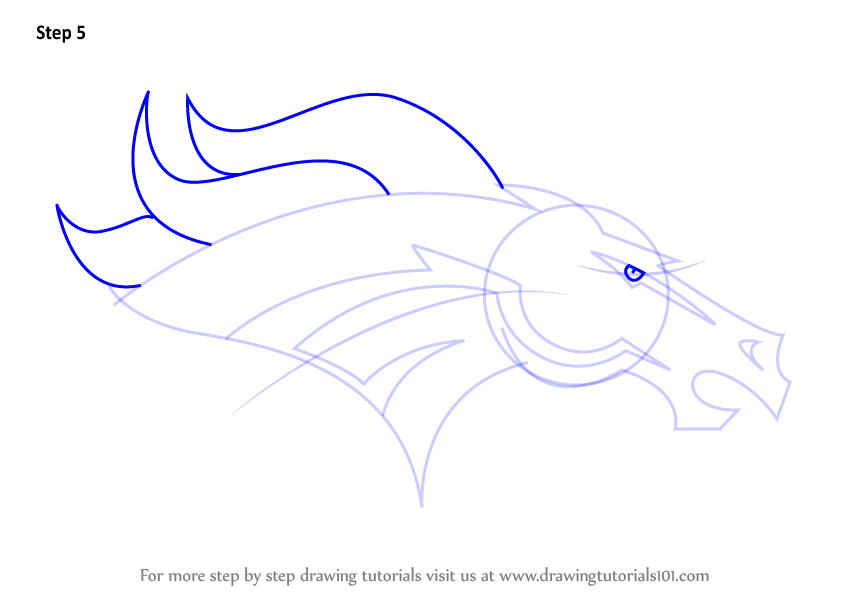 Learn how to draw denver broncos logo nfl step by step for Draw my logo