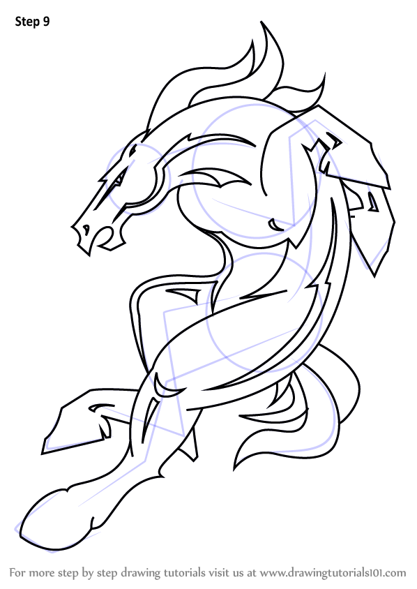 learn how to draw denver broncos mascot  nfl  step by step