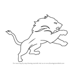 How to Draw Detroit Lions Logo