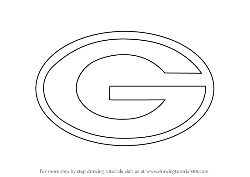 Learn How To Draw Green Bay Packers Logo Nfl Step By Step