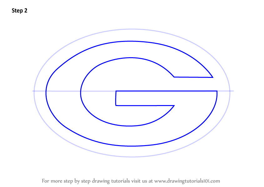 Step by step how to draw green bay packers logo for Draw my logo