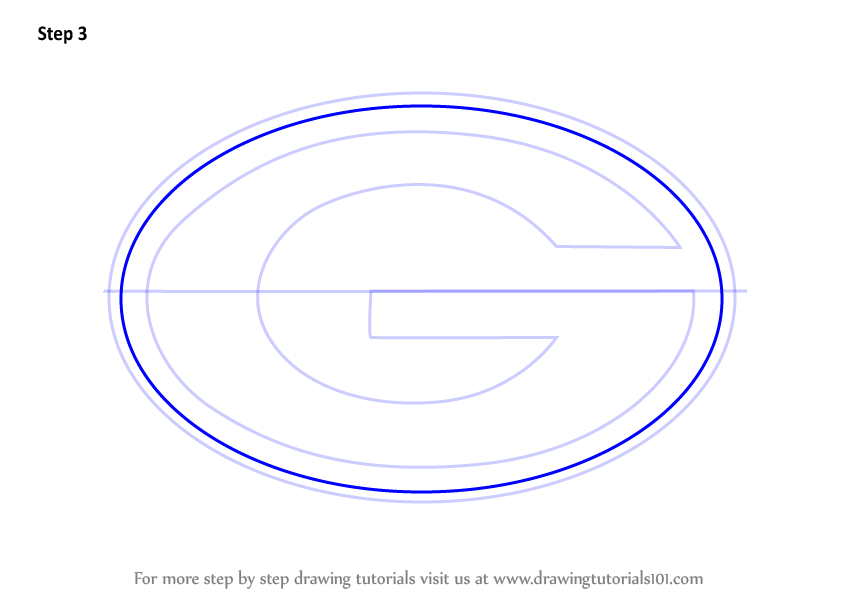 Learn How To Draw Green Bay Packers Logo Nfl Step By