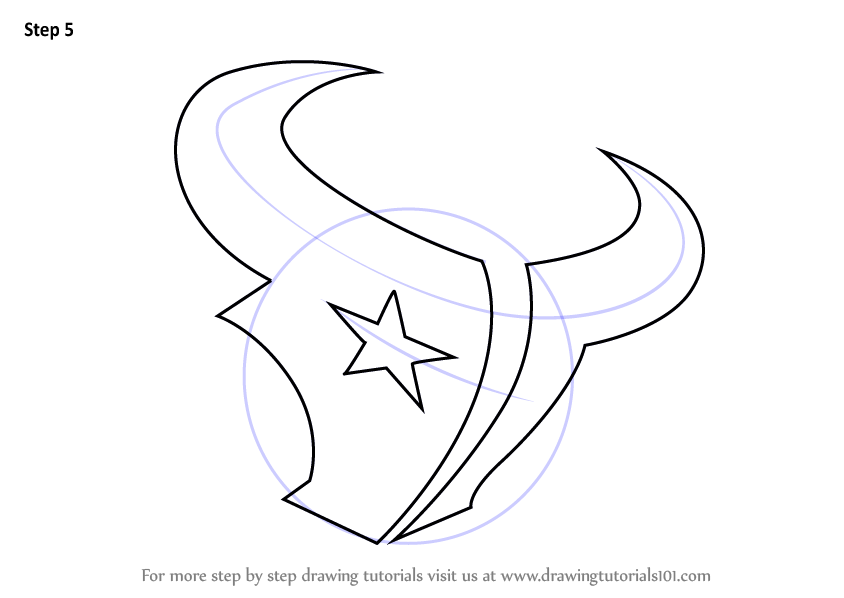 Learn How to Draw Houston Texans Logo NFL Step by Step