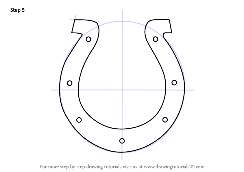 Learn How To Draw Indianapolis Colts Logo Nfl Step By