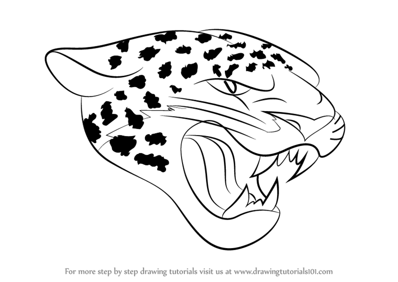 learn how to draw jacksonville jaguars logo nfl step by step drawing tutorials