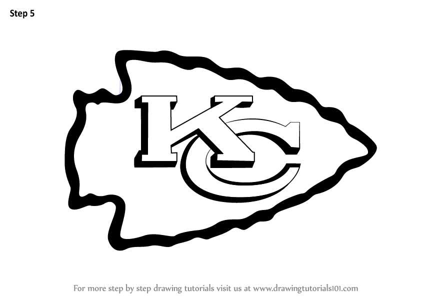 Learn How To Draw Kansas City Chiefs Logo Nfl Step By