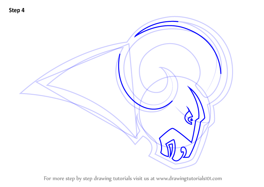 Learn How To Draw Los Angeles Rams Logo Nfl Step By Step