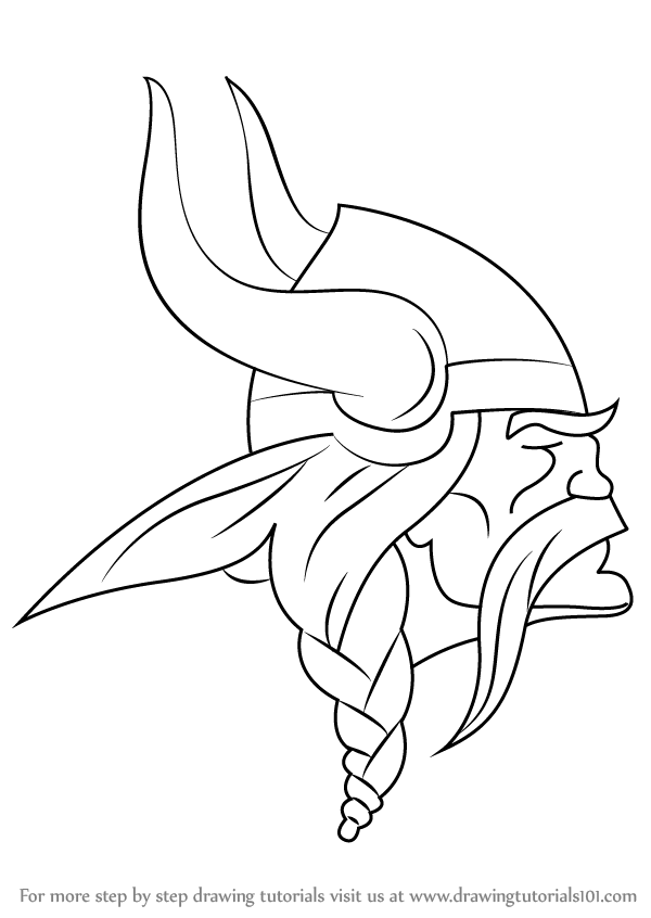 Learn How To Draw Minnesota Vikings Logo Nfl Step By