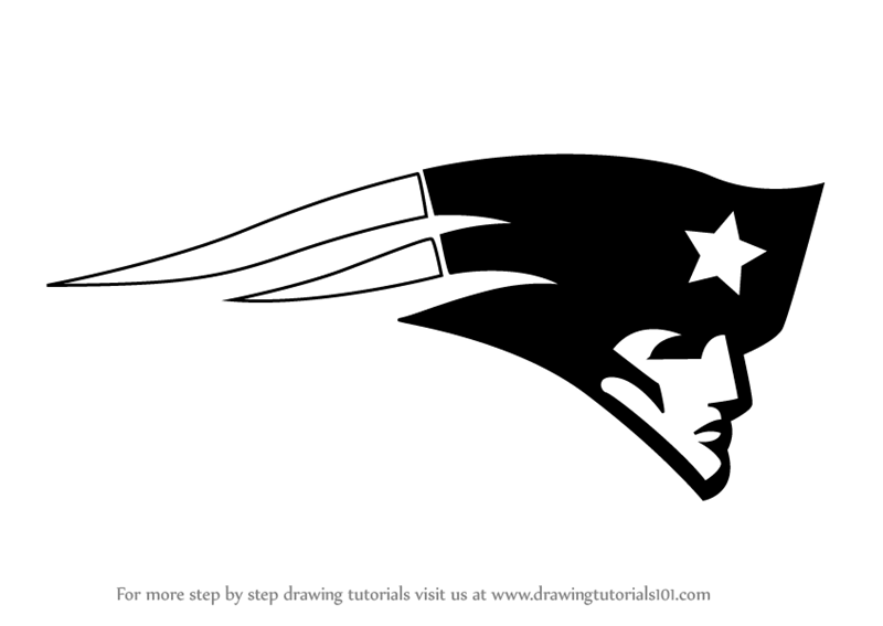 Learn How To Draw New England Patriots Logo Nfl Step By Step