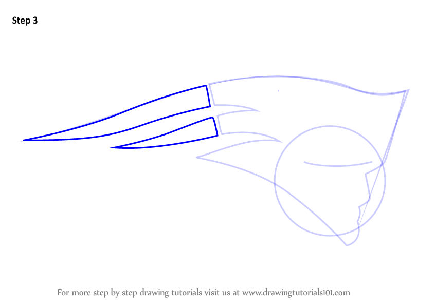 learn how to draw new england patriots logo  nfl  step by Football Logos how to draw the new england patriots symbol
