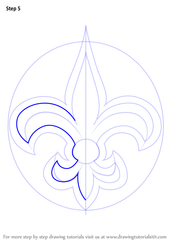 Learn How To Draw New Orleans Saints Logo Nfl Step By Step