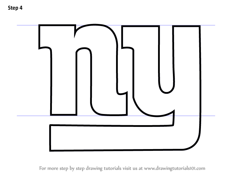 Learn How To Draw New York Giants Logo Nfl Step By Step