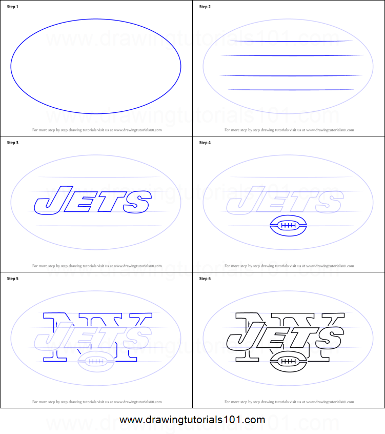 how to draw new york jets logo printable step by step drawing sheet
