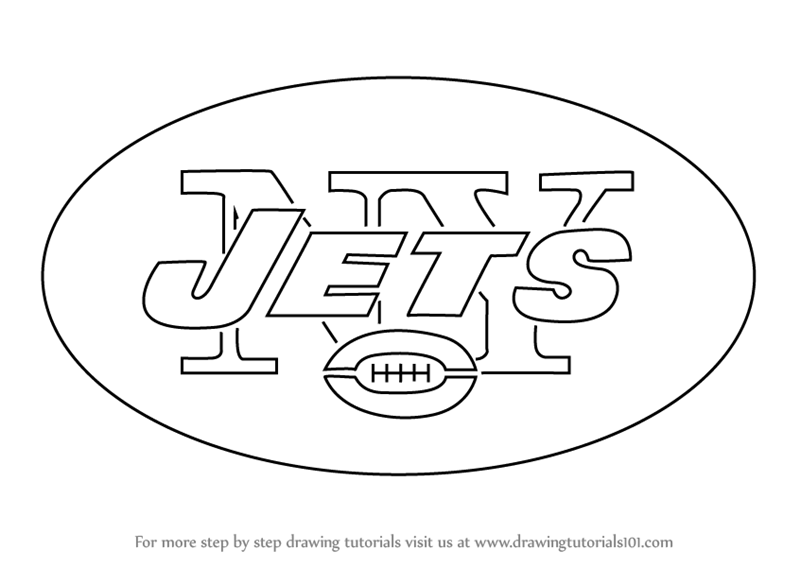 Learn How To Draw New York Jets Logo Nfl Step By Step Drawing Ny Giants Coloring Pages