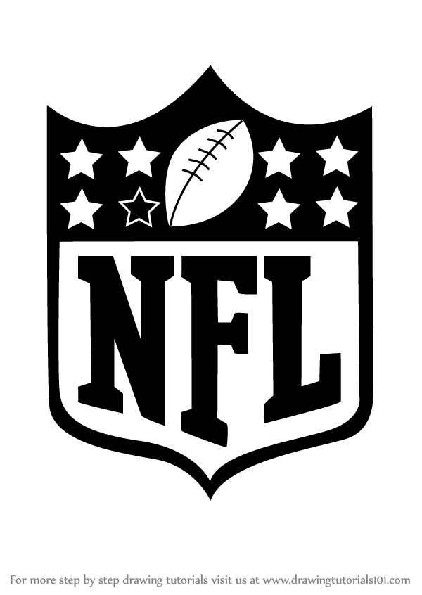 Learn how to draw nfl logo nfl step by step drawing for Draw logo free