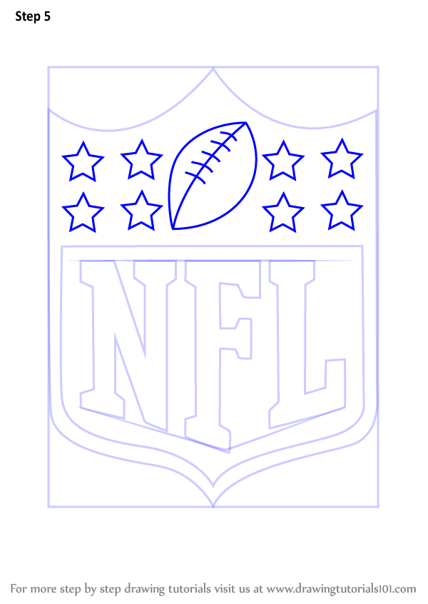 Learn How To Draw Nfl Logo Nfl Step By Step Drawing