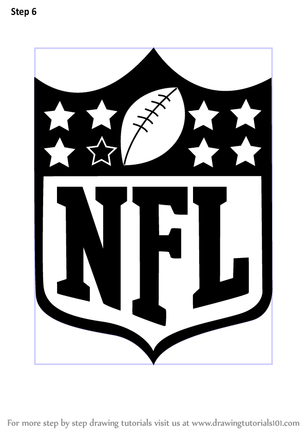 Learn How To Draw NFL Logo (NFL) Step By Step  Drawing Tutorials