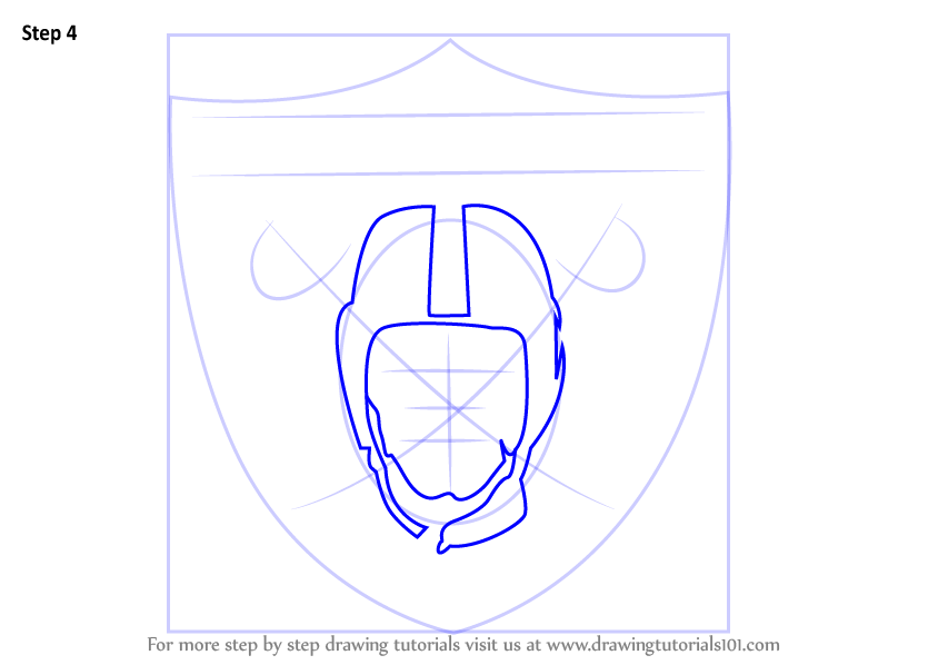 Learn How to Draw Oakland Raiders Logo (NFL) Step by Step : Drawing Tutorials
