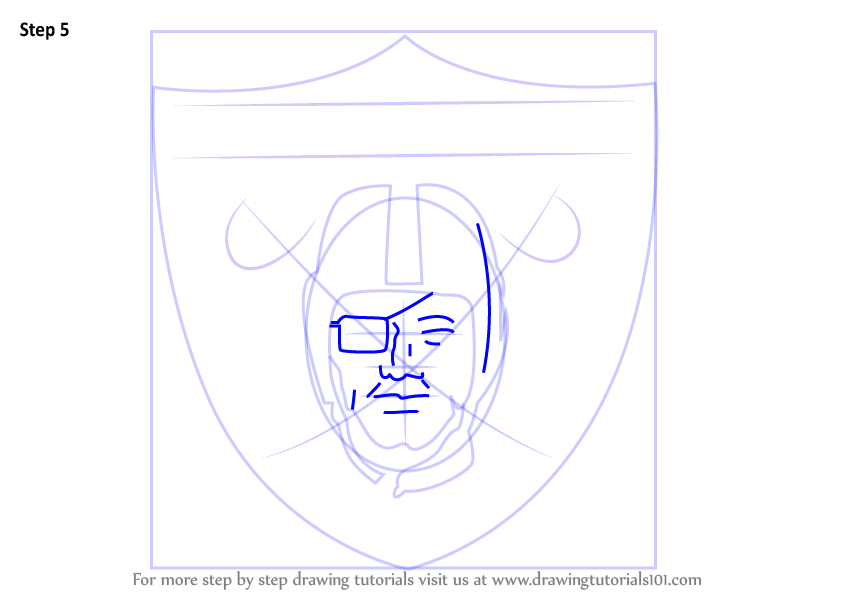 Learn how to draw oakland raiders logo nfl step by