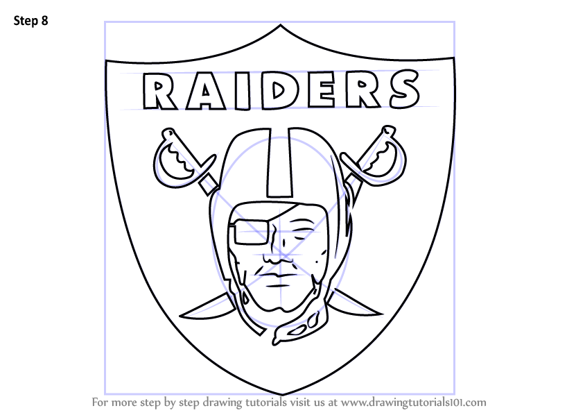 Learn How To Draw Oakland Raiders Logo Nfl Step By Step