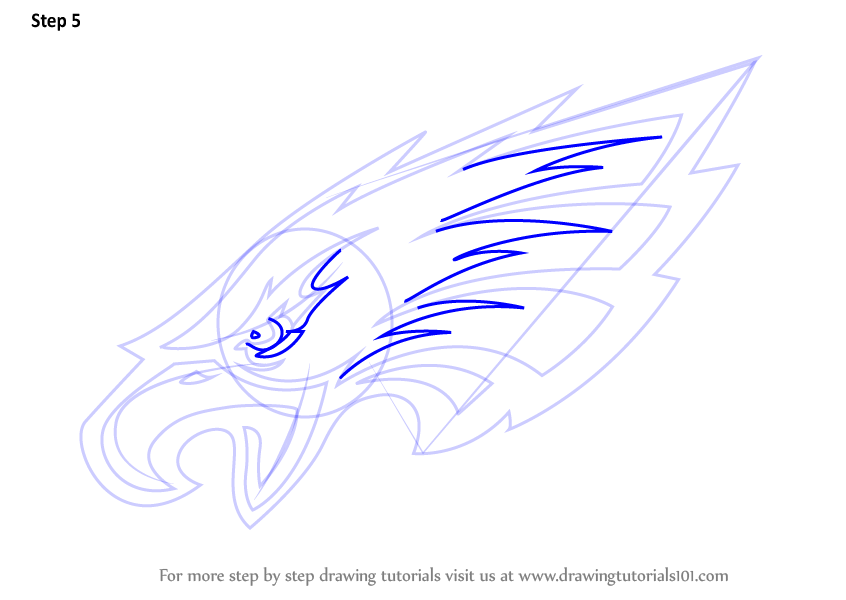 Learn How To Draw Philadelphia Eagles Logo Nfl Step By