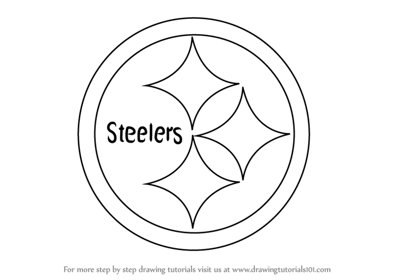 steelers logos coloring pages | Learn How to Draw Pittsburgh Steelers Logo (NFL) Step by ...