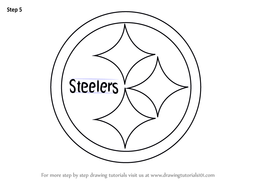 learn how to draw pittsburgh steelers logo nfl step by steeler logo history steelers logo png