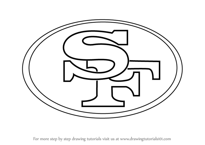 Learn How To Draw San Francisco 49ers Logo NFL Step By Step Drawing Tutorials