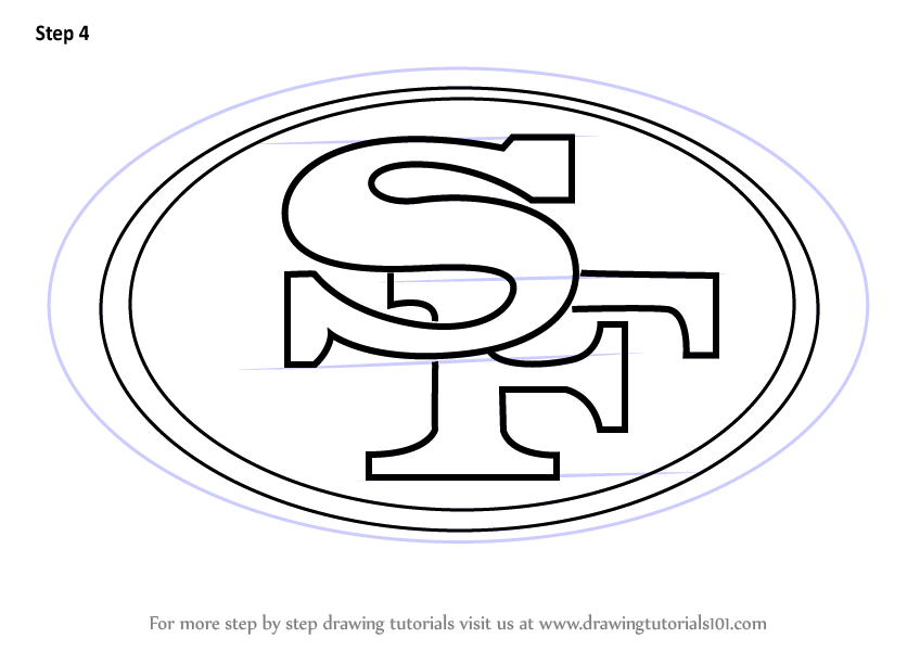 Learn How To Draw San Francisco 49ers Logo Nfl Step By Step