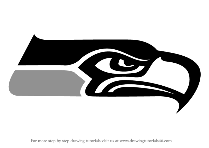 Learn How To Draw Seattle Seahawks Logo Nfl Step By Step