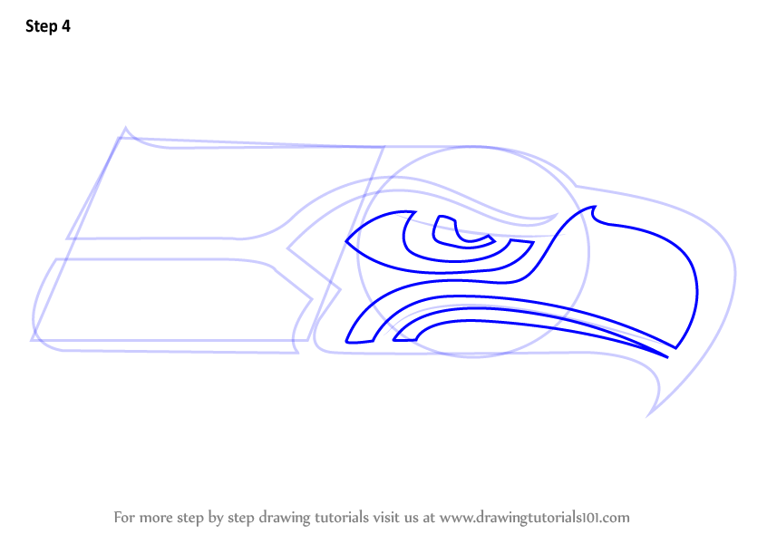 seahawks logo circle coloring pages - photo#6