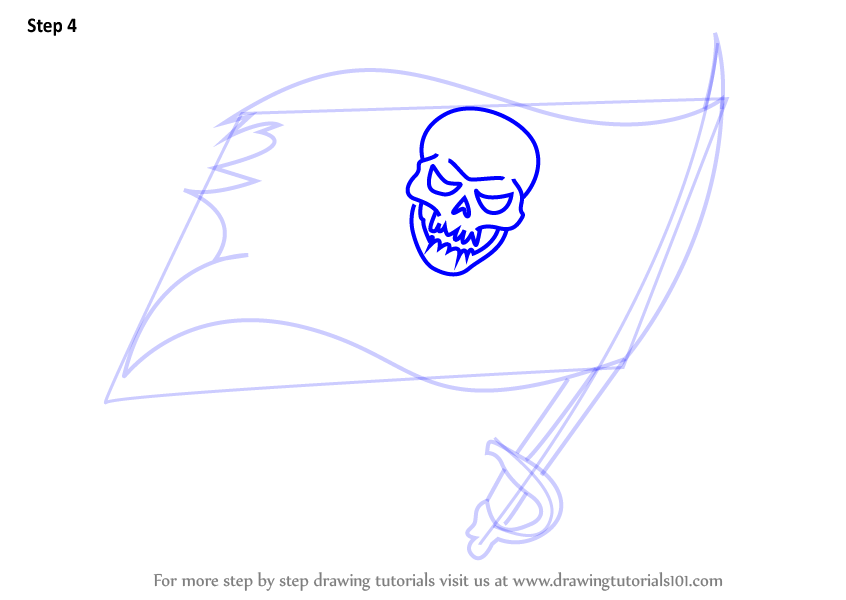 Learn How To Draw Tampa Bay Buccaneers Logo Nfl Step By