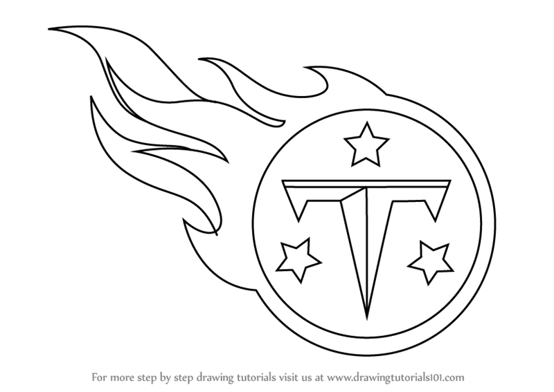 Learn How To Draw Tennessee Titans Logo NFL Step By Step Drawing Tutorials